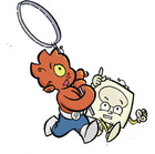 Zig and Wikki are running around holding a giant magnifying glass so that they can explore!