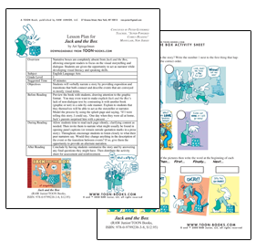 A lesson plan and student activity sheet related to Jack and the Box